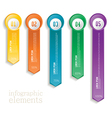 Colorful banner ribbon Element for infographic vector image