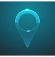 glass navigation icon vector image