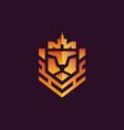 lion logo vector image