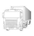 logistic by container truck vector image
