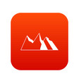 mountains icon digital red vector image