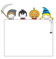postcard halloween vector image