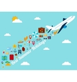 Travel background with flat icons Summer holidays vector image