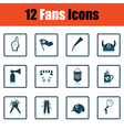 Set of soccer fans icons vector image vector image