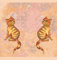 cute happy red cats vector image