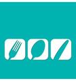 Restaurant menu design whit cutlery symbols vector image