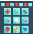 Flat medical icon set vector image vector image