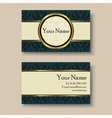 business card with circle vector image