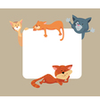 Cats around frame vector image