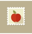 Apple flat stamp with long shadow vector image
