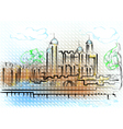 tower of london vector image