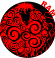 Chinese Horoscope ram vector image