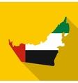 Dubai map icon flat style vector image