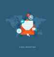 flat design with icons e-mail marketing vector image