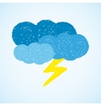 Weather - dark clouds and lightning vector image