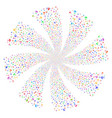 space antenna fireworks swirl flower vector image