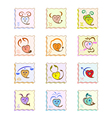 Zodiac signs as hearts vector image