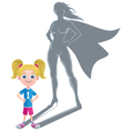 Girl Superheroine Concept 2 vector image