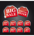 big sale tags vector image vector image