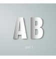 Paper Graphic Alphabet vector image