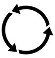 Recycle Flat Icon vector image