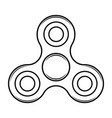 fidget spinner toy isolated icon vector image