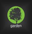 garden design template poster vector image