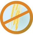 no wheet sign vector image