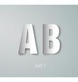 Paper Graphic Alphabet vector image