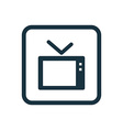tv icon Rounded squares button vector image