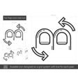 Two finger pivot rotate line icon vector image