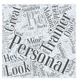 personal trainers Word Cloud Concept vector image