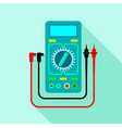 multimeter voltmeter icon flat style vector image