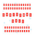 christmas sale from red scoreboard vector image