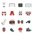 Hockey Decorative Icon Set vector image