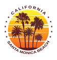 Travel Background for Santa Monica California vector image