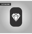 black and white style poker diamond vector image