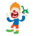 Clown character cartoon vector image