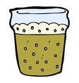 comic cartoon glass of beer vector image