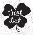 Irish Lucl Lettring in clover vector image