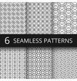 monochrome line geometrical seamless vector image