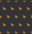 seamless brown moose pattern vector image
