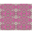 seamless floral ornament pattern vector image