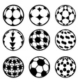 set of football and soccer balls vector image