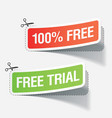 100 percent free labels vector image