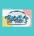 hamburger poster with cool design vector image vector image