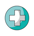 medical cross isolated icon vector image