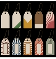 set of tags with geometrical pattern vector image