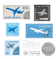 airplane set mark vector image