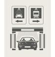Car wash Set of icons vector image